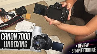 CANON EOS 700D UNBOXING, REVIEW & SAMPLE FOOTAGE! | 2018