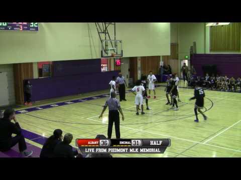 Albany vs Encinal High School Boys Basketball 2ND HALF LIVE 1/14/17