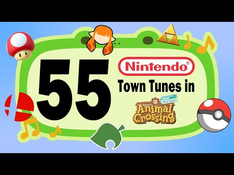 55 NINTENDO Town Tunes for your Animal Crossing New Horizons Island