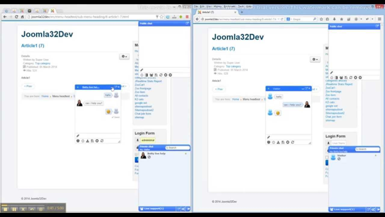 Jchatsocial The Joomla Help Desk System And Chat Extensions