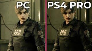 Resident Evil 2 Remake – PC vs. PS4 Pro Graphics Comparison [1080p]