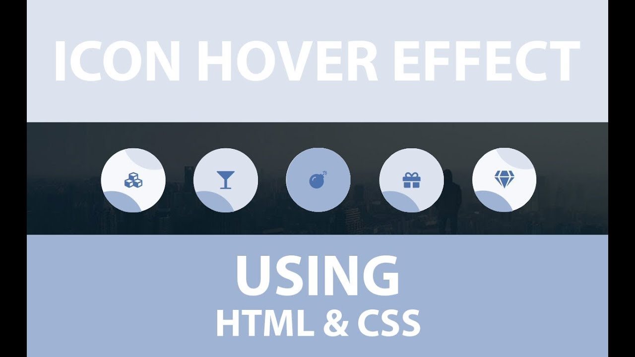 Pure CSS Sliding Icon hover effects Using HTML and CSS - Icon Hover Effect