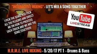 Presonus Studio One - Mixing - PT 1 Drums & Bass 5/20/17