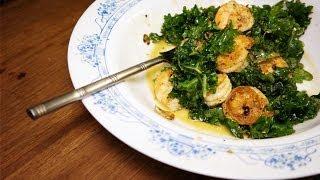 Stir Fried Shrimp And Kale Salad