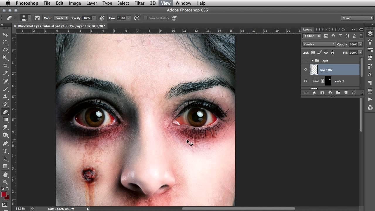 Bloodshot Eyes Photoshop Tutorial