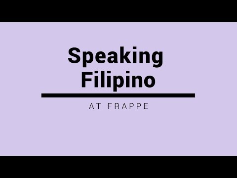 SPEAKING FILIPINO (Tagalog) AT FRAPPE (Read pinned comment)