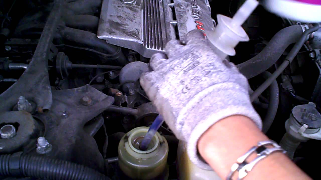 DIY: 06' Toyota Highlander Drain / Refill Power Steering Fluid Procedure by  onza04