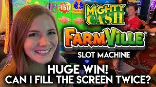 HUGE BONUS WIN! Mighty Cash Farmville Slot Machine!!