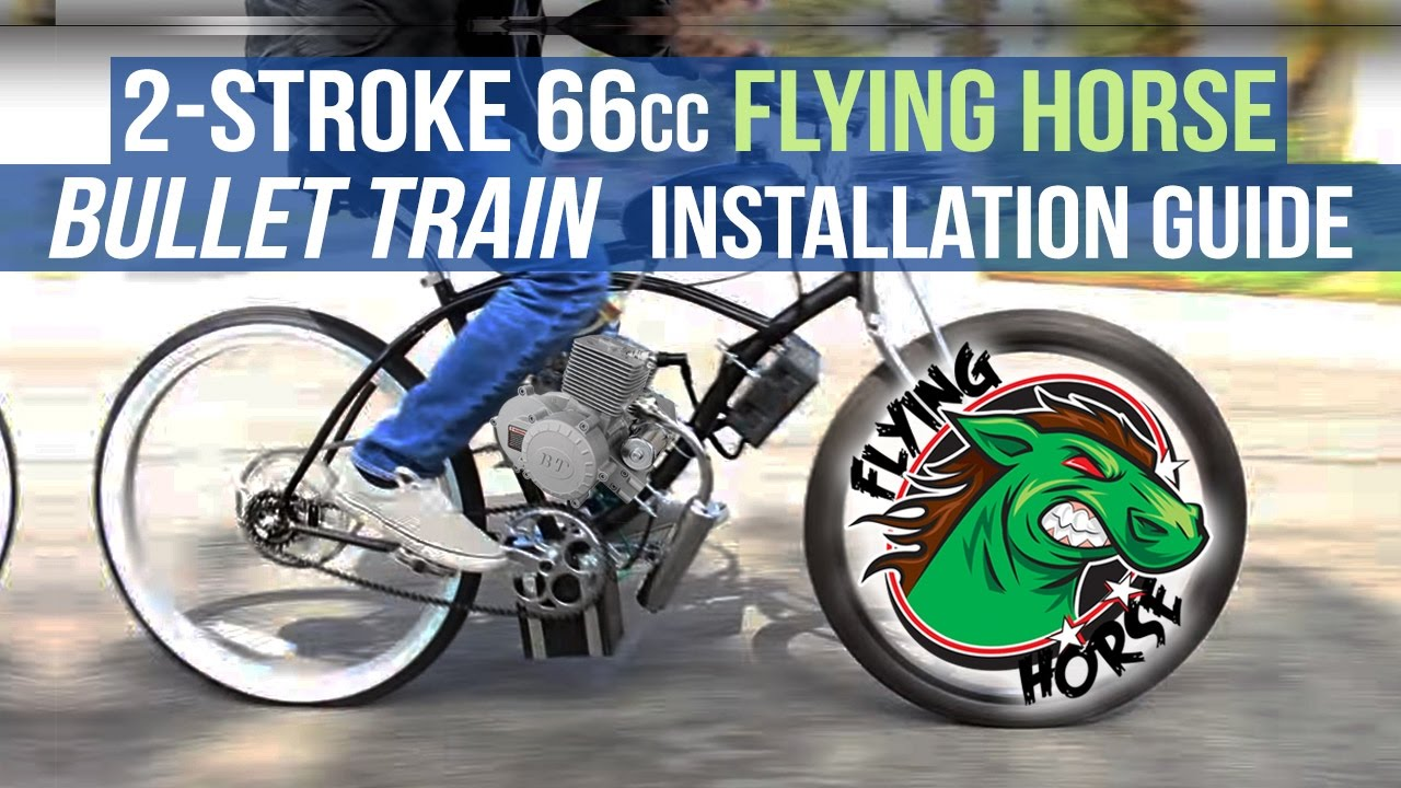 How To Install A 2 Stroke 66cc 80cc Bullet Train Engine Kit For Motorized Gas Bicycle You
