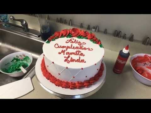 Como saco el color rojo en mi Chantilly - decorando pasteles para mamá