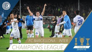 Barcelona vs Inter - Celebrations at the final whistle | Champions League 2009/10