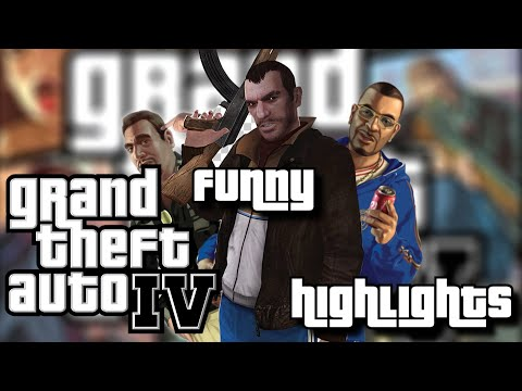Grand Theft Auto 4 | Complete Funny Highlights