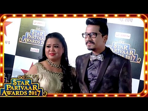 Bharti Singh and Harsh's Funny Interview At Star Parivaar Awards 2017 Red Carpet