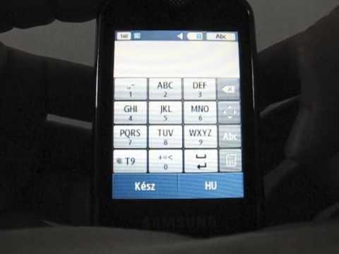 Samsung S3370 bemutató (HUN)