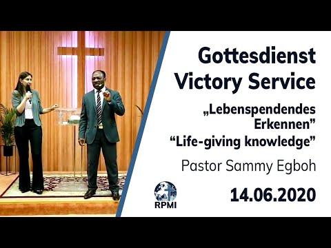 """RPMI-Gottesdienst - Livestream vom 14.06.2020 - Pastor Sammy Egboh """"Lebenspendendes Erkennen"""""""