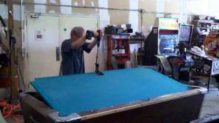 Removing pool table slate