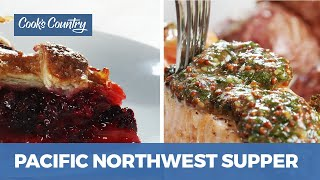 How to Make Oregon Blackberry Pie and Easy One-Pan Salmon