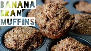 Healthy Muffins Recipe   How To Make Low Fat Banana Bran Muffins