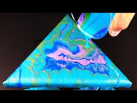Acrylic Pouring Fluid Painting | Silicone Cells | Beautiful Huge Cells!