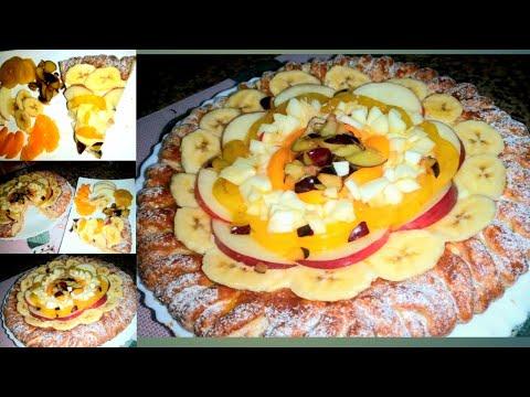 #tarte#-sablée-dfira-طارط#صابلي#-على-شكل-#ضفيرة#-بالفواكه#