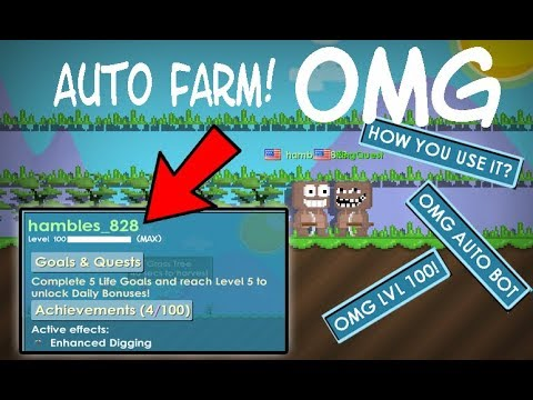 GrowTopia - HOW TO USE AUTO BOT FARM!?? | OMG TORBOB ATTACK!