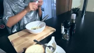 Кулинары - гренки со сметаной, чесноком и зеленью