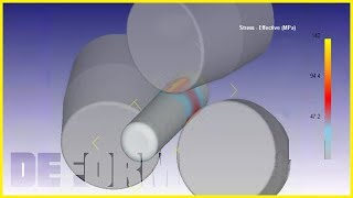 Helical rolling (three-roll skew rolling) simulation. Deform 3D   OOO NZNZ