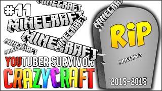 RIP MINECRAFT - LOST ALL OF MY ITEMS IN SECONDS! - Minecraft: Youtuber Survivor! #11 (Crazy Craft)
