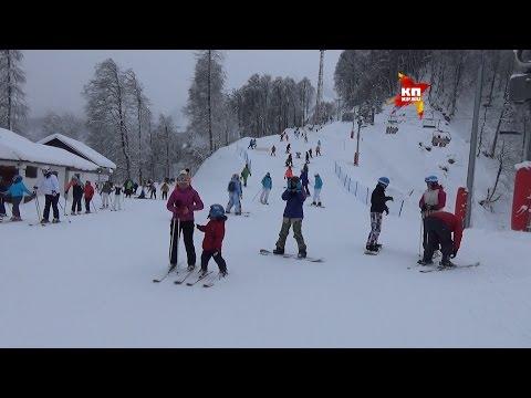 Олимпийский горнолыжный курорт «Роза Хутор» в Красной Поляне