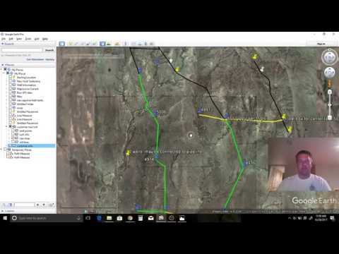 Pipeline design and mapping in Google Earth.