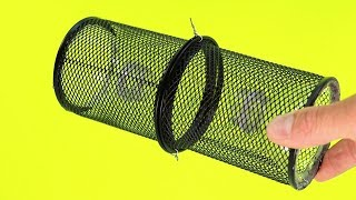 How To Make a Mini Fish Trap with Plastic Bottle and Pencil Holder
