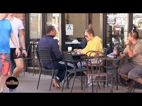 Louie Cruz - WATCH: Normal People React To J-Lo & A-Rod At Bagel Shop