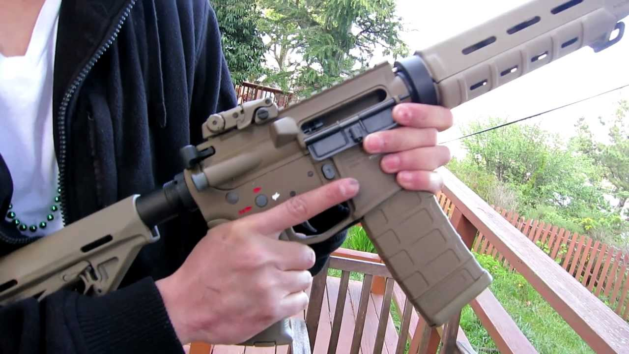 Airsoft Gun M4 G&p Magpul Gas Blowback M4 Airsoft (test Fire/review