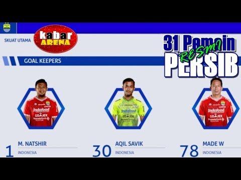 31 Pemain  Persib plus No Punggung | No 7 ?? | Transfer Resmi Liga 1