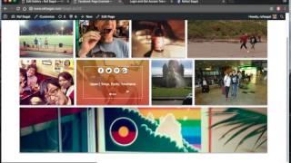 Getting Started - Facebook Gallery   Wordpress Plugin