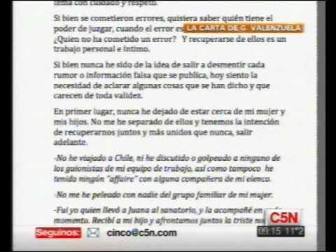 C5N - CARTA ABIERTA DE GONZALO VALENZUELA