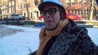 Ice skating Amsterdam canals by shaky jones