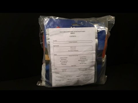 2013 British 24hr Cold Climate Operational Ration Pack MRE Review Special Forces Meal Tasting