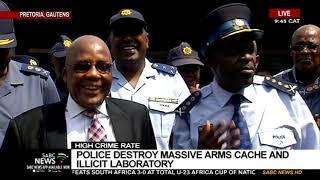 Crime  Police destroy massive arms cache and illicit laboratory