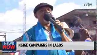 ANAMBRA GOVERNORSHIP: NGIGE CAMPAIGNS AT LADIPO MARKET IN LAGOS