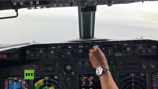 Imágenes inéditas del accidente de un Boeing 737 en Micronesia