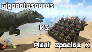 ARK: Survival Evolved - Giganotosaurus vs Plant Species X - Dino Battle
