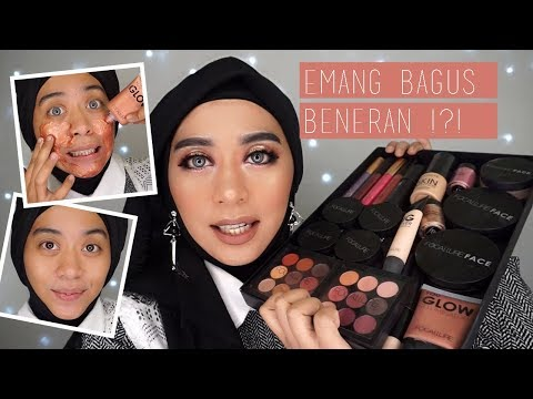 Tutorial Makeup Pesta Glamour | One Brand Makeup Tutorial Focallure dan Review Produk