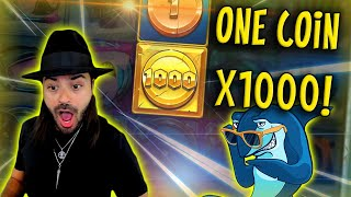 ROSHTEIN ONE COIN X1000 RAZOR SHARK \ Top 5 Wins of the Week