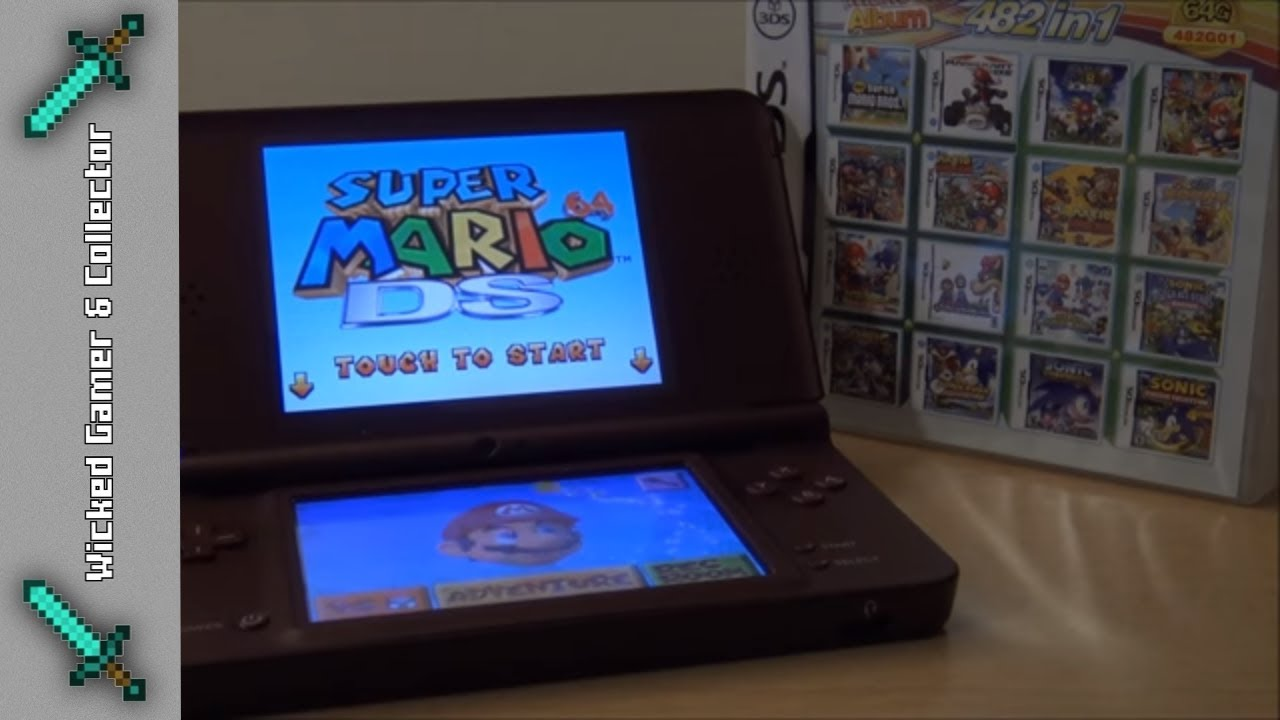 Nintendo DS / 3DS - 482 in 1- Retro Game Collection Cardridge Unboxing  Review