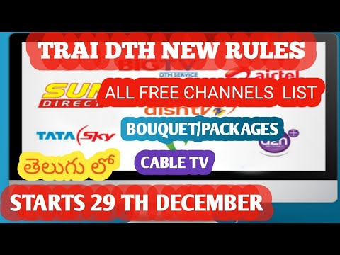 ALL FREE CHANNELS LIST | PACKAGES | PRICE LIST | ALL DTH | CABLE TV |  TELUGU | BY TECH NAGIREDDY |