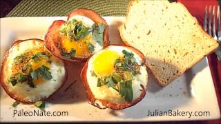 Low Carb Paleo Ham & Egg Cups With Paleo Bread™