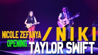 taylor swift red tour concert indonesia opening act by nicole zefanya stan the man band