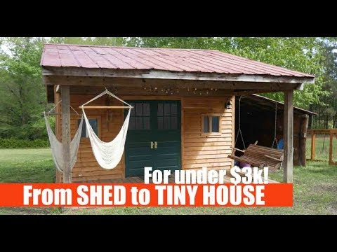 Turning A Shed Into A Tiny House Airbnb Rental For Under