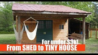 Turning a SHED into a Tiny House Airbnb Rental for UNDER $3k!